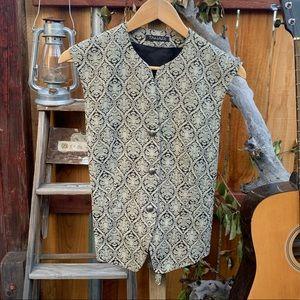 NWT Tahari Three Button Victorian Vest.